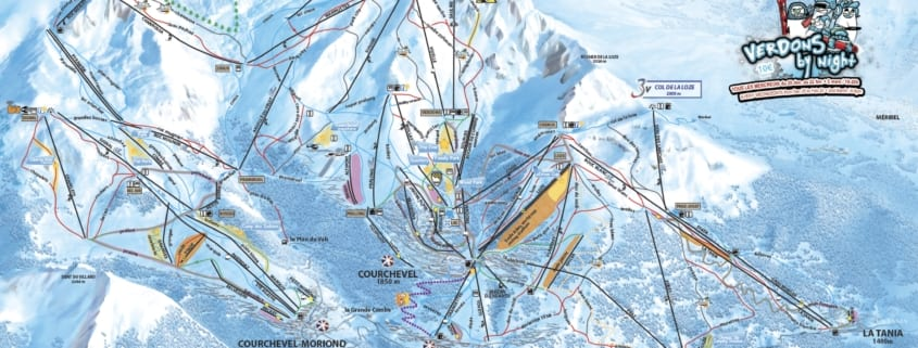 Courchevel Piste Map 2020