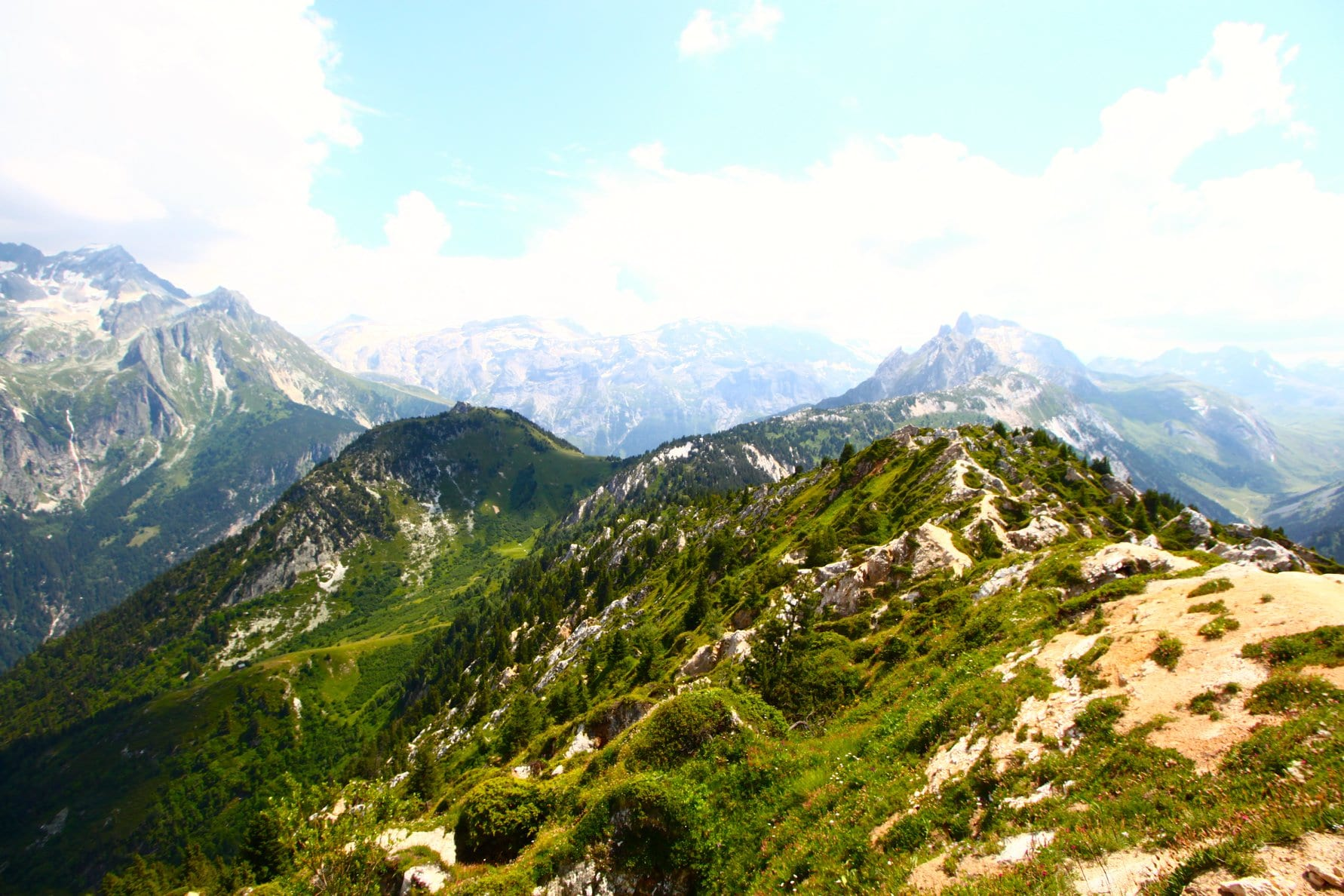hiking French Alps Courchevel