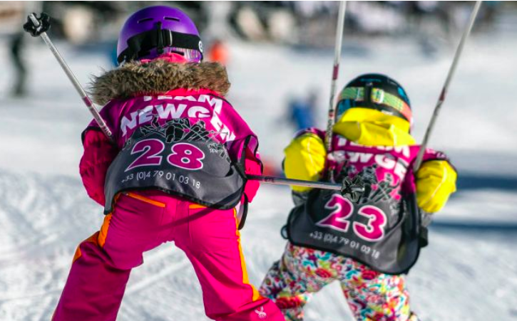 kids ski school la tania