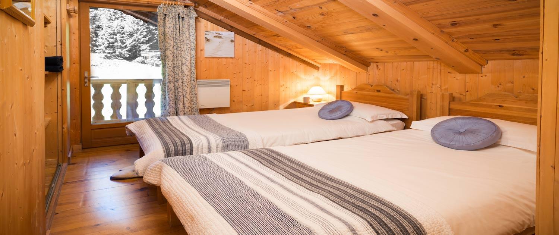 Twin Bedroom, Chalet Dahu, La Tania